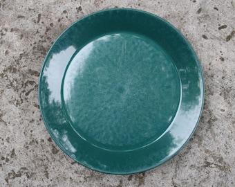 Arabia of Finland TEEMA Dark Green Dinner Plate Designed by Kaj Franck, Scandinavian Design
