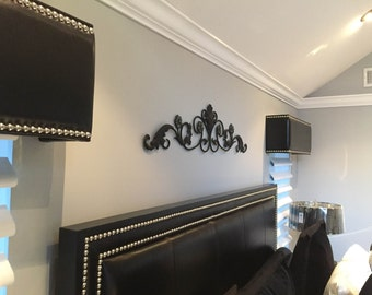 Creative exclusive Valance Box, Cornice Board, Pelmet Box leather/vinyl or fabric nailheads (only custom size and color)