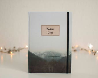 Planner 2018, Planner, Bosnia, Weekly Planner, Agenda, Monthly Calendar, Scheduler, Notebook, Daily planner, Christmas gift, Notes, Diary