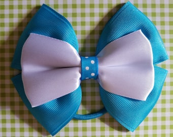 Blue and white polka dot