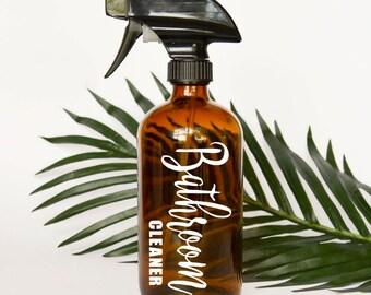Bathroom Cleaner Spray Bottle Label