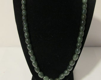 ON SALE Green Jade Necklace  (Grade A)