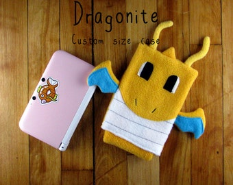 JULY PREORDER 3ds XL Case / Custom Size Pokemon Dragonite pouch carrying case new 3ds / 3ds xl / nintendo switch / psp vita holder cozy