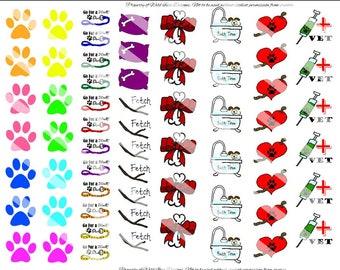Dog Care Stickers Doodled Pupper Care Planner Stickers - Extras