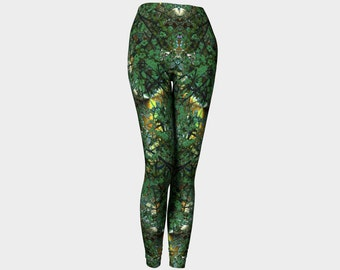 In The Garden, Compression fit performance Leggings, XS, S, M, L, XL, Hot Yoga Pants, Activewear, Yoga Leggins Made in Canada, Fashion