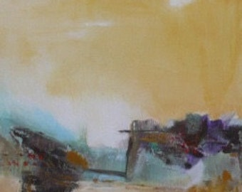 Abstract canvas painting acrylic #7