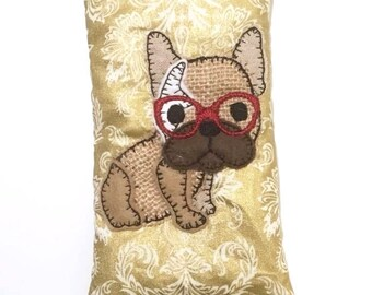 ITH Phone Case with French Bulldog. 5x7 ITH project. One Hooping - Machine Embroidery design by Pixie Willow Patterns