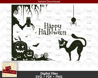 Halloween Collage SVG File