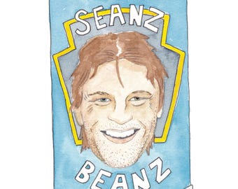 Seanz Beanz Greeting Card