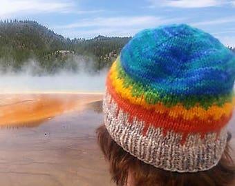 Yellowstone National Park Beanie Knitting Pattern