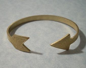 Arrow Cuff Bracelet Adjustable Brass Arrow Bracelet Raw Brass Arrow Jewelry Archery Jewelry Brass Cuff Bracelet