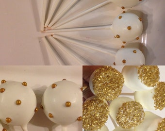 Gold Wedding Cake Pops ,Cake Balls  Or Any Occasion
