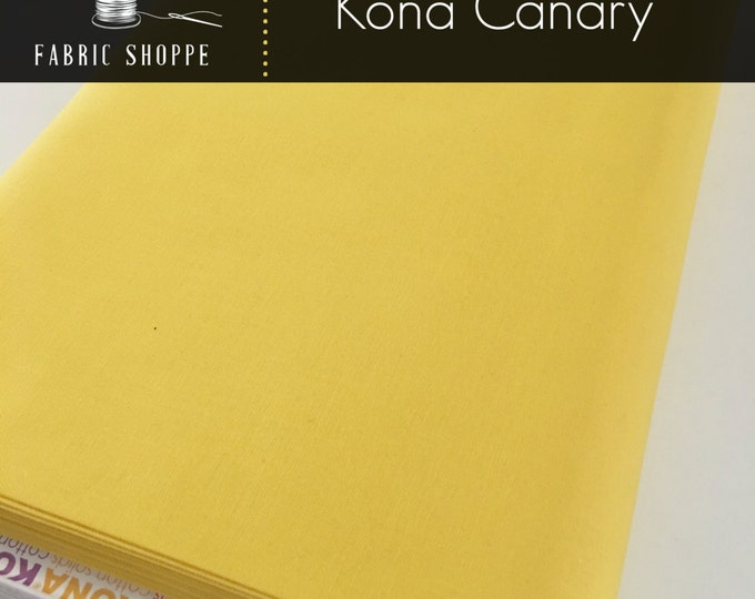 Kona cotton solid quilt fabric, Kona CANARY 26, Kona fabric, Solid fabric Yardage, Kaufman, Yellow fabric, Choose the cut