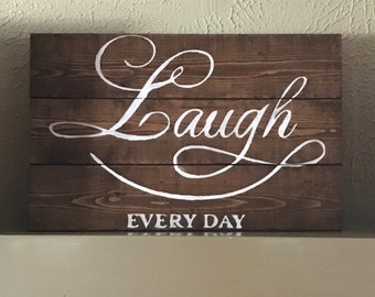 Live, Laugh, Love Wood Sign