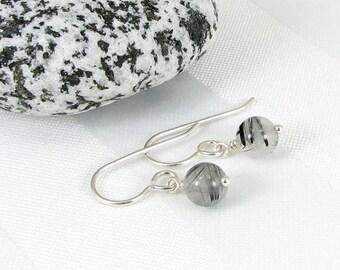 Tourmalated Quartz Sterling Silver Earrings