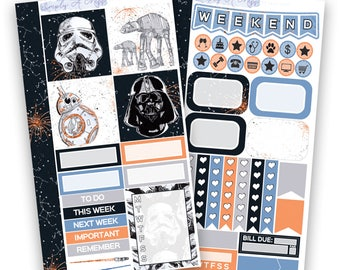 Far, Far Away Collection - Personal Kit | Planner Stickers for Personal Planners