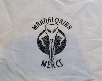 Handmade tote bag -Mandalorian Mercs, Boba Fett