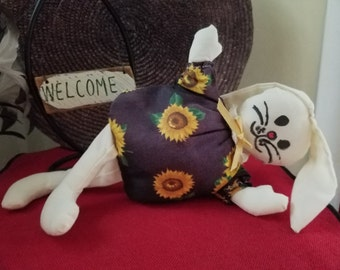 Sunflower Rabbit Bean Bag