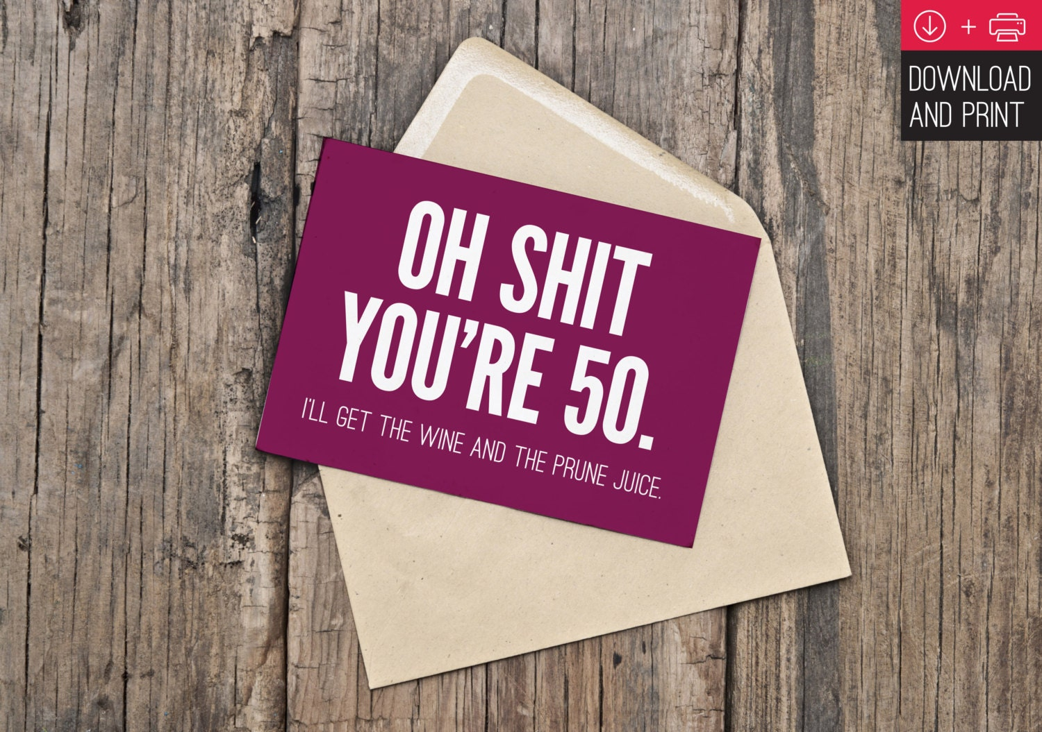 It's just a photo of Gutsy Free Printable 50th Birthday Cards
