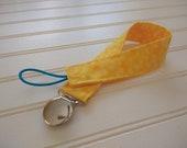 Pacifier Clip - Yellow Do...