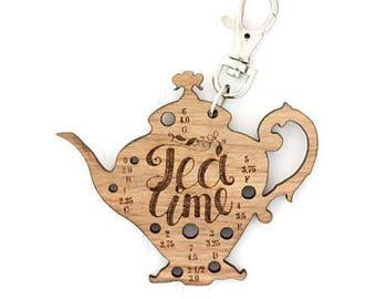 Teapot Knitting Needle Gauge Fob