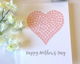 Happy Mother's Day - Mother's Day Card - Roses - Pink Roses - Flowers - Floral Card - Mother's Roses - Mom - Card for Mom - Pink - Rose Card