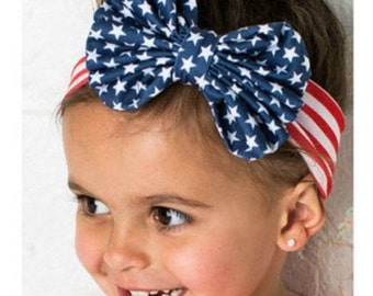 Ready - Mommy and Me matching headbands for 4th of July- Patriotic headband -Sisters headband - Mommy & Me by: Charming Designs