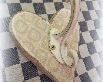 Wall Hook shabby iron wood sign wardrobe towel holder wall coat hook