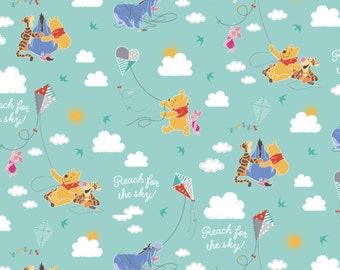 Winnie Pooh Toss 100% Cotton Fabric