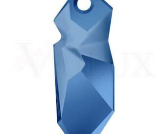 Swarovski 6912 Kaputt Pendant - Metallic Blue (METBL) 28 mm