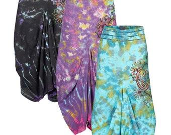 Long tie dye balloon skirt up to PLUS size