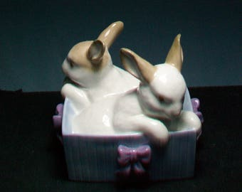 Nao By Lladro Bunnies In A Basket