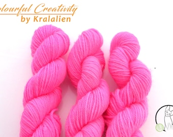 Pre-order: Fluoro Pink -  Colourful Smooth Sock Kitten
