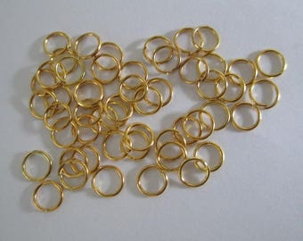 100 6mm color gold plated jump rings