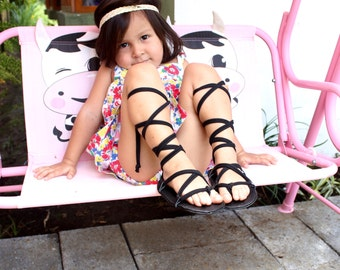 Gladiator Sandals, Baby Sandals, Handmade Sandals, Strappy Sandals, Toddler Shoes, Infant Girl Sandals, Lace Up Baby Sandals