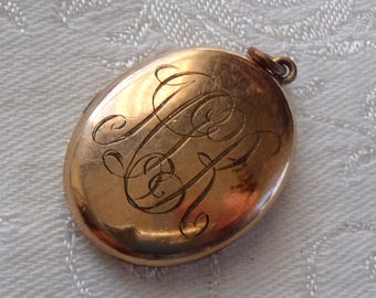Vintage Oval Locket with Monogram