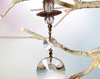 Victorian Filigree Crystal Sun Catcher & Christmas Ornament, 1S-76