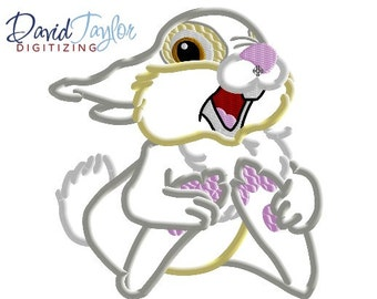Bambi Thumper - 4x4, 5x7, 6x10 and 8x8 in 9 formats - Applique - Instant Download - David Taylor Digitizing