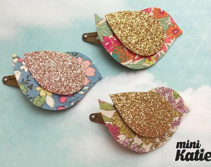 mini Katie Liberty style mini Bird Hair Barrette Hair clip Adorable Glitter baby hair clips