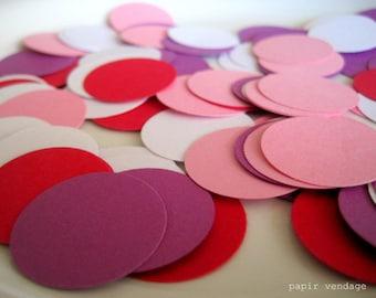 Confettis de la Saint-Valentin, décor de Table de la Saint-Valentin, Cofetti fête la Saint-Valentin, 100 à pois confetti, fête de la Saint-Valentin, fête confetti, confettis de table