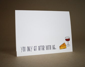 Funny Birthday Card - Funny Happy Birthday Card - Over the Hill