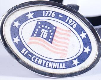 Buckle Belt Bicentennial 1976 Vintage 1776 American America Usa Liberty United States Bi Centennial Revolution