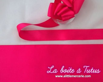 1 m meter 100 ★ pink 100 cm x 10 mm wide satin ribbon wide quality.