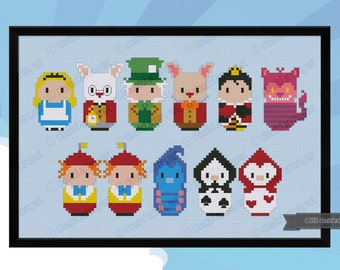 Alice in Wonderland parody - Cross stitch PDF pattern