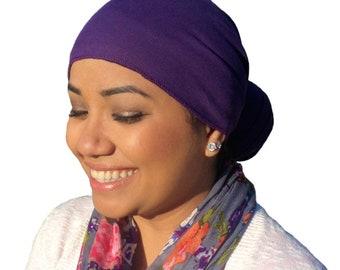 Purple Head Wrap % Cotton /Scarves /Bandana