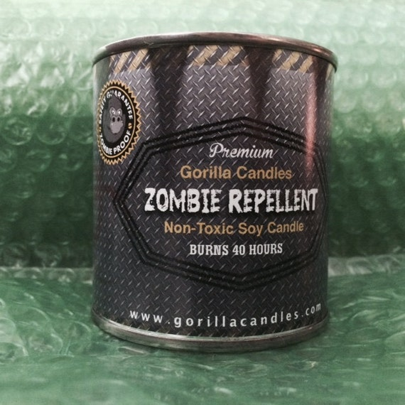Zombie Repellent Citronella Scented 8 ounce Candle  mosquito repel