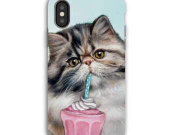 Cat iphone case, persian cat case, cat mobile case, cat tough iPhone case, cat tough Samsung case, animal device case, cat, cat lover's gift