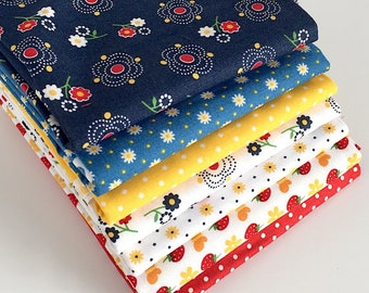 Riley Blake's Gingham Girls Fat Quarter Bundle - 6pc FQ Bundle, Quilting Fabric, Quilting Supplies