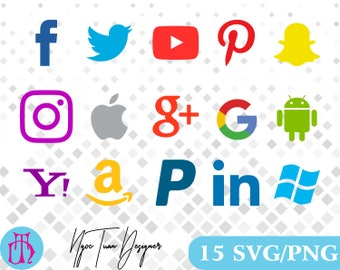 Social media svg,png/Social media clipart for Print,Design,Silhouette,Cricut and any more