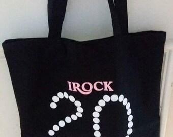 I Rock 20 Pearls Black Tote